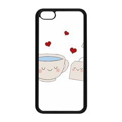Cute Tea Apple Iphone 5c Seamless Case (black)