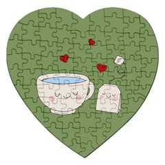 Cute Tea Jigsaw Puzzle (heart)