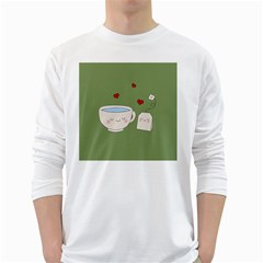 Cute Tea White Long Sleeve T Shirts
