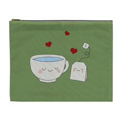Cute Tea Cosmetic Bag (xl)