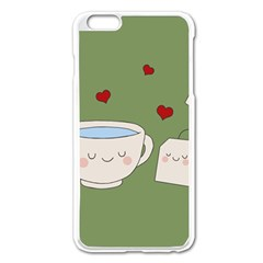 Cute Tea Apple Iphone 6 Plus/6s Plus Enamel White Case
