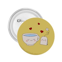 Cute Tea 2 25  Buttons
