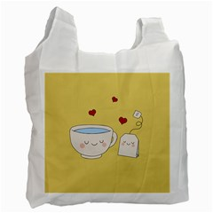 Cute Tea Recycle Bag (one Side)