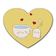 Cute Tea Heart Mousepads