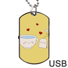 Cute Tea Dog Tag Usb Flash (two Sides)