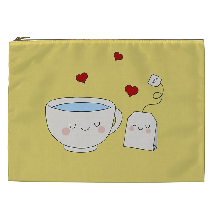 Cute Tea Cosmetic Bag (XXL)