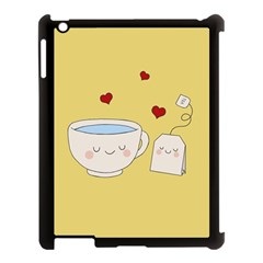 Cute Tea Apple Ipad 3/4 Case (black)