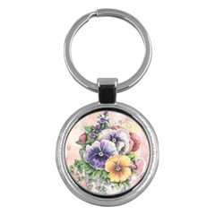 Lowers Pansy Key Chains (round)