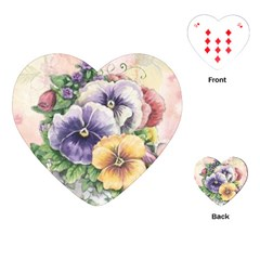 Lowers Pansy Playing Cards (heart)
