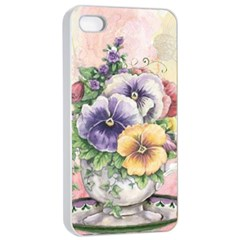 Lowers Pansy Apple Iphone 4/4s Seamless Case (white)