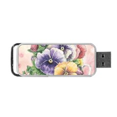 Lowers Pansy Portable Usb Flash (one Side)