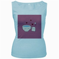 Cute Tea Women s Baby Blue Tank Top