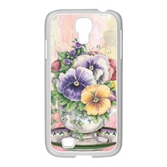 Lowers Pansy Samsung Galaxy S4 I9500/ I9505 Case (white)