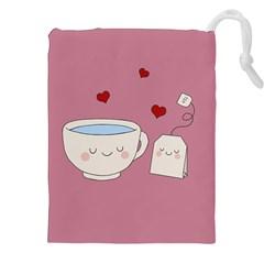 Cute Tea Drawstring Pouches (xxl)