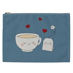 Cute Tea Cosmetic Bag (xxl)