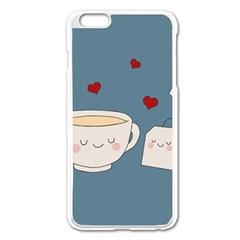 Cute Tea Apple Iphone 6 Plus/6s Plus Enamel White Case