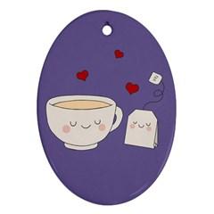 Cute Tea Ornament (oval)