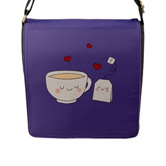 Cute Tea Flap Messenger Bag (l)