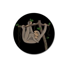 Cute Sloth Magnet 3  (round)