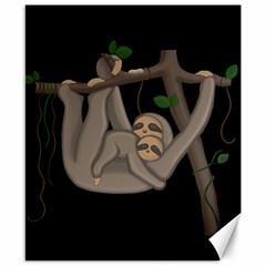Cute Sloth Canvas 8  X 10