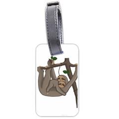 Cute Sloth Luggage Tags (one Side)