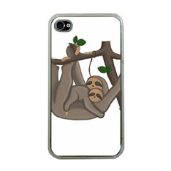 Cute Sloth Apple Iphone 4 Case (clear)