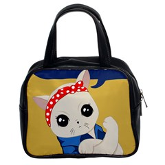 Feminist Cat Classic Handbags (2 Sides)