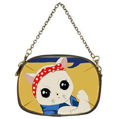 Feminist Cat Chain Purses (two Sides)