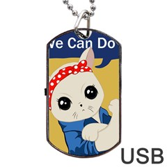 Feminist Cat Dog Tag Usb Flash (two Sides)