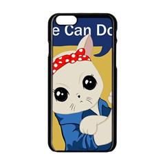 Feminist Cat Apple Iphone 6/6s Black Enamel Case