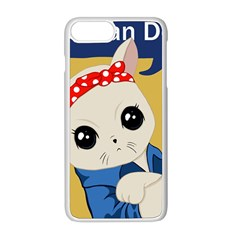 Feminist Cat Apple Iphone 8 Plus Seamless Case (white)