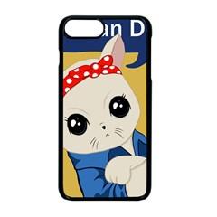 Feminist Cat Apple Iphone 8 Plus Seamless Case (black)