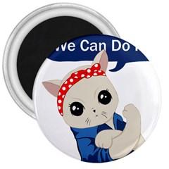 Feminist Cat 3  Magnets