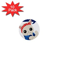 Feminist Cat 1  Mini Buttons (10 Pack)