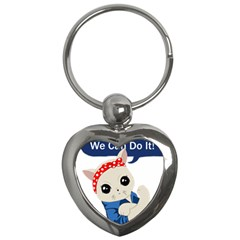 Feminist Cat Key Chains (heart)