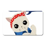Feminist Cat Magnet (Rectangular) Front