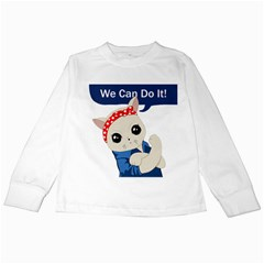 Feminist Cat Kids Long Sleeve T Shirts