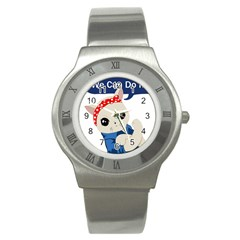 Feminist Cat Stainless Steel Watch