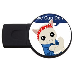 Feminist Cat Usb Flash Drive Round (4 Gb)