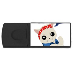 Feminist Cat Rectangular Usb Flash Drive