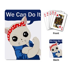 Feminist Cat Playing Card