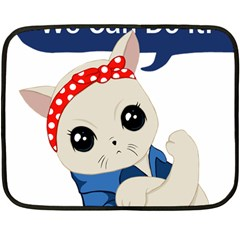 Feminist Cat Double Sided Fleece Blanket (mini)