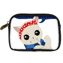 Feminist Cat Digital Camera Cases
