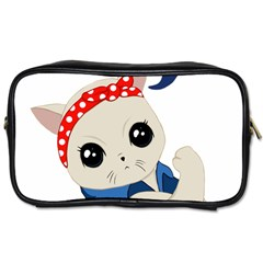 Feminist Cat Toiletries Bags