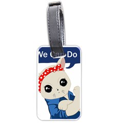 Feminist Cat Luggage Tags (one Side)