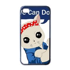 Feminist Cat Apple Iphone 4 Case (black)