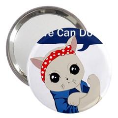 Feminist Cat 3  Handbag Mirrors