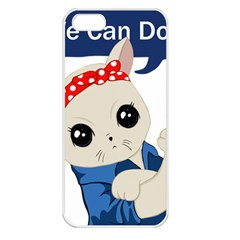 Feminist Cat Apple Iphone 5 Seamless Case (white)