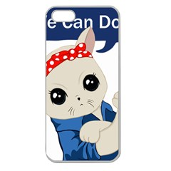 Feminist Cat Apple Seamless Iphone 5 Case (clear)