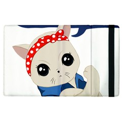 Feminist Cat Apple Ipad 3/4 Flip Case